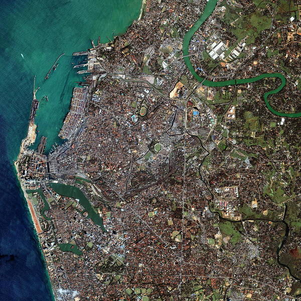 Wall Art - Photograph - Colombo by Geoeye/science Photo Library