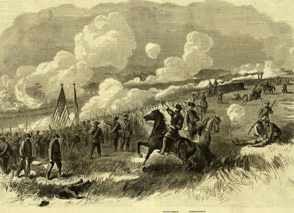 Brigade Drawing - Colonel Burnsides Brigade At Bull Run, First And Second by Quint Lox