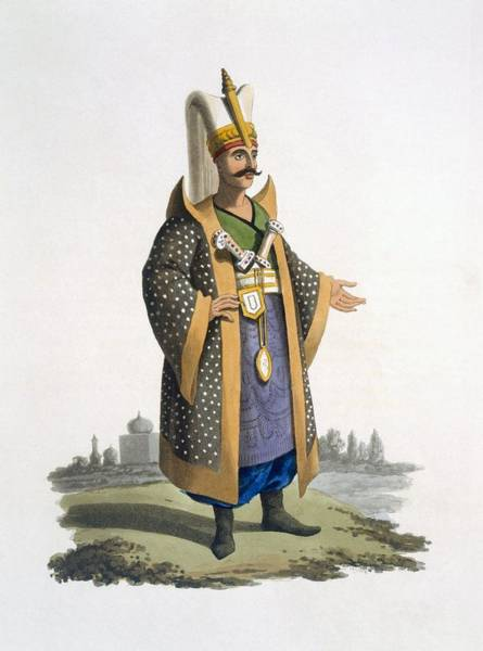 Empire Drawing - Colonel Of The Janissaries With Jewels by English School