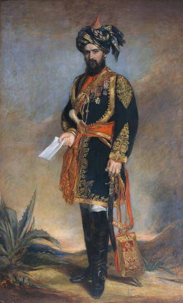 Indian Camp Painting - Colonel Probyn Cb Vc Honorary Adc by James Rannie Swinton