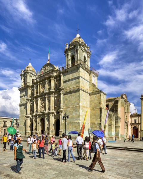 Photograph - Colonial Cathedral In Oaxaca by Mark E Tisdale