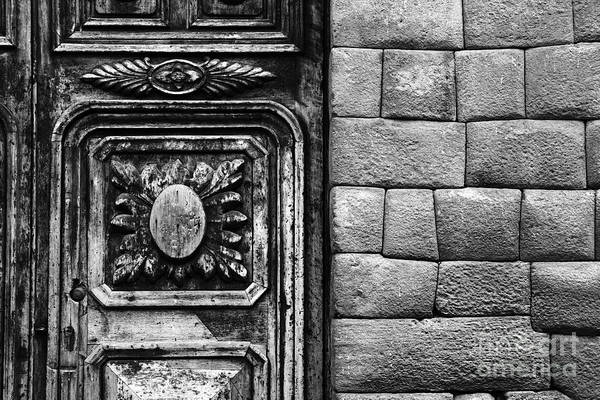 Photograph - Colonial Door And Inca Wall by James Brunker