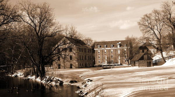 Monocacy Wall Art - Photograph - Colonial Industrial District - Long View - Sepia by Jacqueline M Lewis