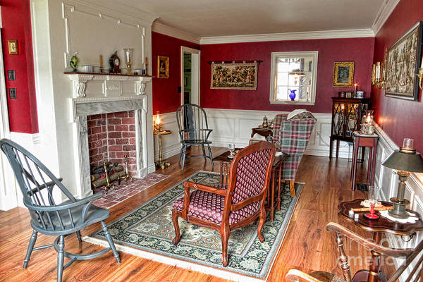 Photograph - Colonial Parlor by Olivier Le Queinec
