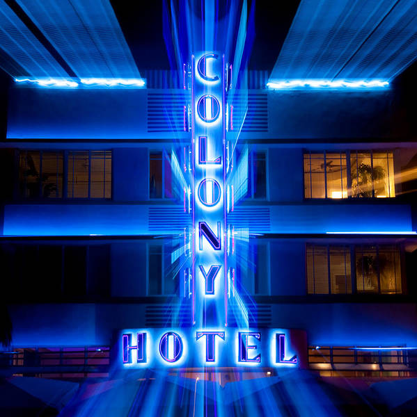 Wall Art - Photograph - Colony Hotel 2 by Dave Bowman
