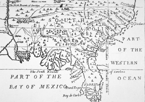 South Drawing - Colony Of Georgia America by American School
