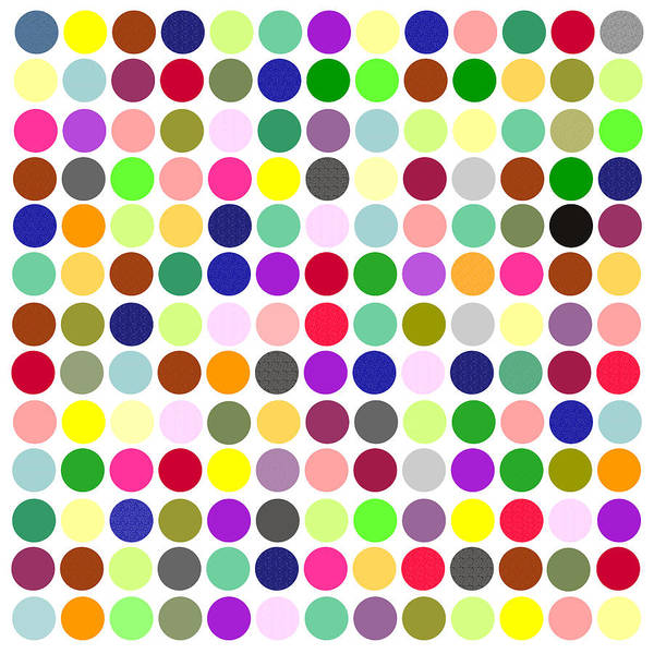 Digital Art - Color Balls Minimalist Poster by Celestial Images