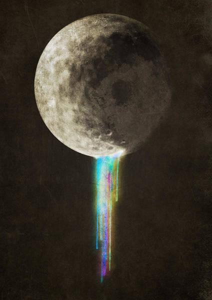 Moon Digital Art - Color Bleed by Eric Fan
