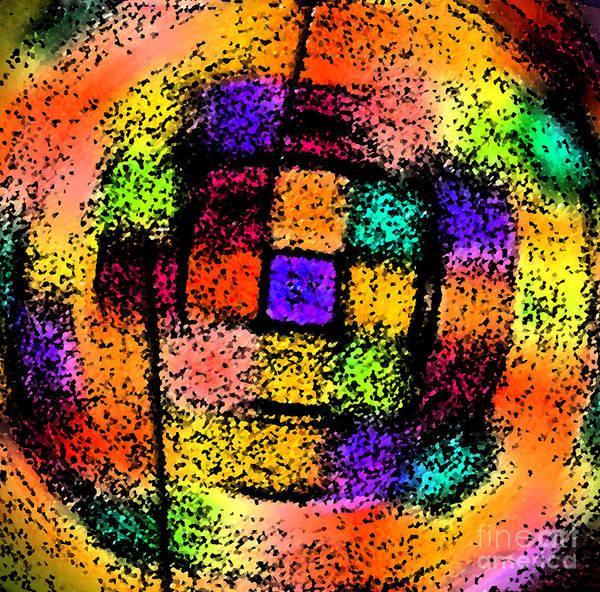 Photograph - Color Block Swirl Abstract by Karen Adams