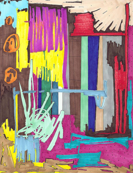 Painting - Color Fun Iv by Teddy Campagna