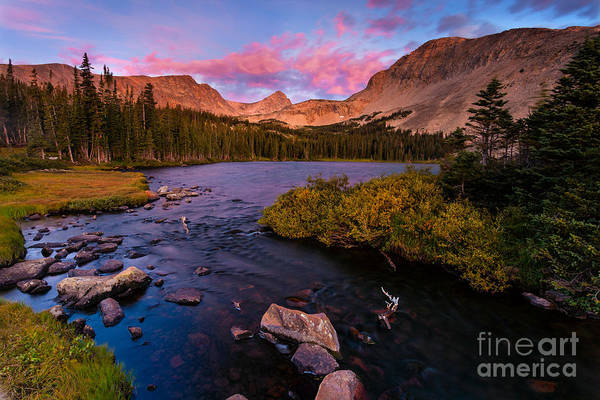 Indian Peaks Wilderness Photograph - Color Over  Indian Peaks by Steven Reed