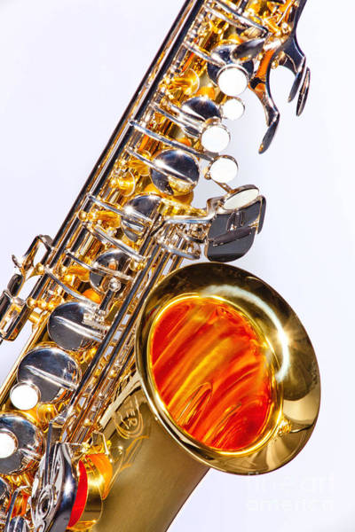 Photograph - Color Photograph Of A Tenor Saxophone 3356.02 by M K Miller