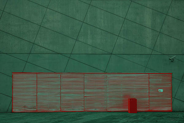 Red Green Photograph - Color Play by Inge Schuster