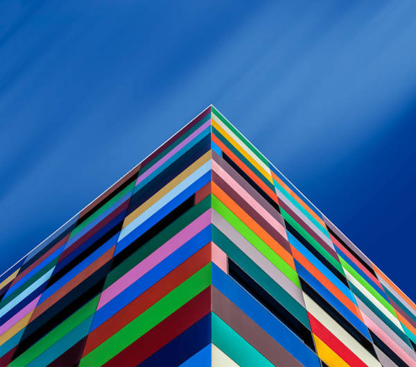 Bricks Photograph - Color Pyramid by Alfonso Novillo