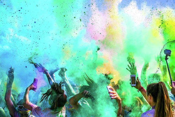 Concert Photograph - Color Run by Eunice Kim