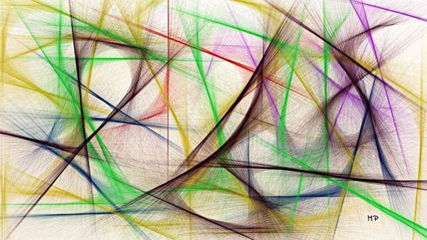 Mixed Media - Color Run by Marian Palucci-Lonzetta