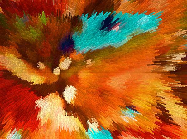 Digital Art - Color Shock 1 - Vibrant Digital Painting by Sharon Cummings