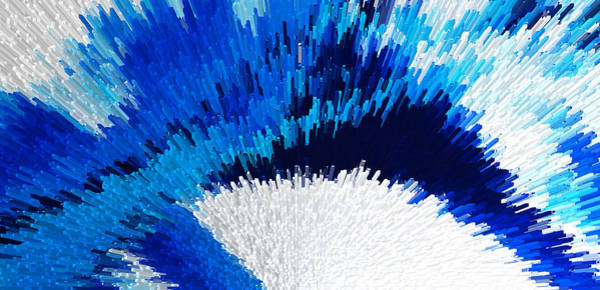 Digital Art - Color Shock 2 - Vibrant Digital Painting Art by Sharon Cummings