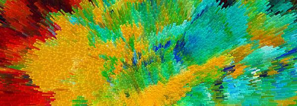 Digital Art - Color Shock 5 - Vibrant Digital Painting by Sharon Cummings