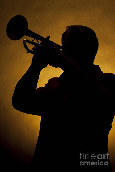 Photograph - Color Silhouette Of Trumpet Player 3019.02 by M K Miller