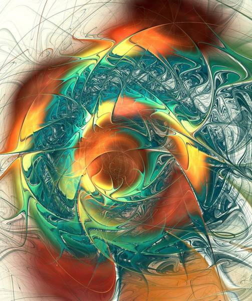 Digital Art - Color Spiral by Anastasiya Malakhova