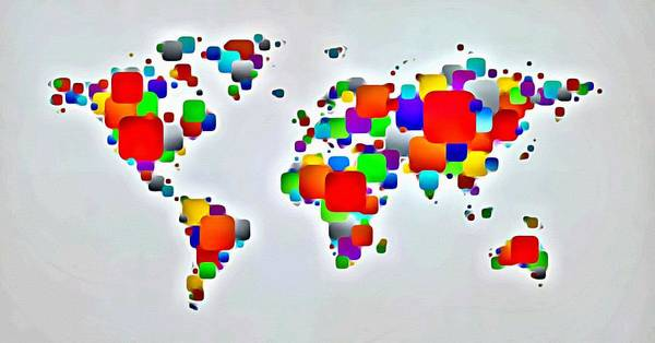 Painting - Color The World by Florian Rodarte