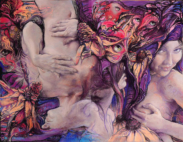 Wall Art - Drawing - Color Vertigo by Graszka Paulska