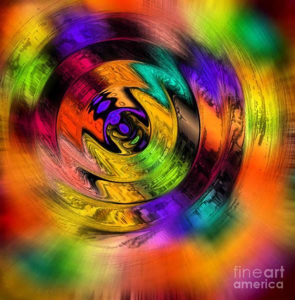 Photograph - Color Wheel Spin Abstract by Karen Adams