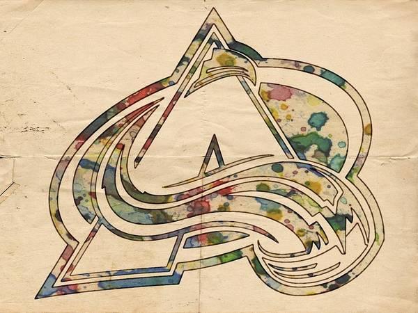 Painting - Colorado Avalanche Poster Art by Florian Rodarte