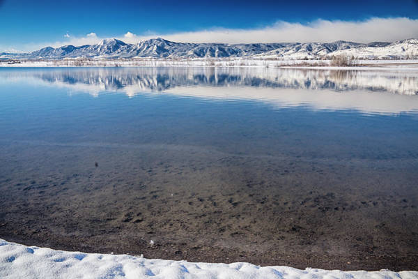 Photograph - Colorado Boulder Reservoir Winter Scenic View  by James BO Insogna