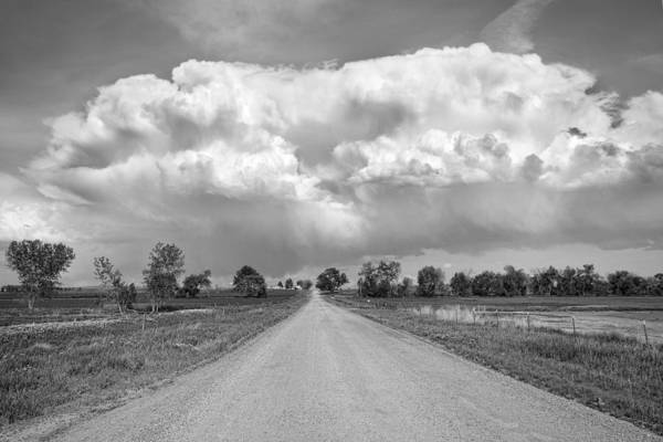 Photograph - Colorado Country Road Stormin Bw Skies by James BO Insogna