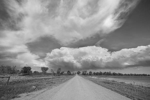Photograph - Colorado Country Road Stormin Skies Bw by James BO Insogna