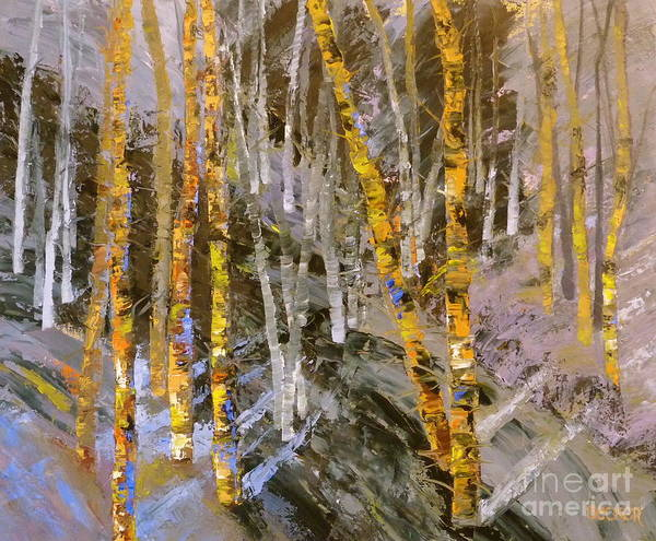 Painting - Colorado Ghost Forest by Susan A Becker