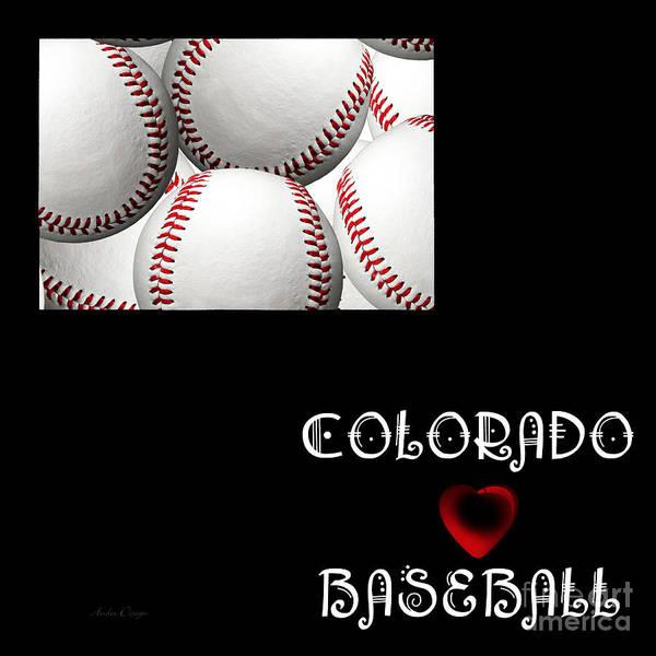 Digital Art - Colorado Loves Baseball by Andee Design