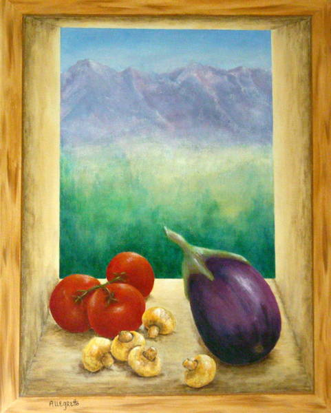 Funghi Painting - Colorado Mountain View by Pamela Allegretto