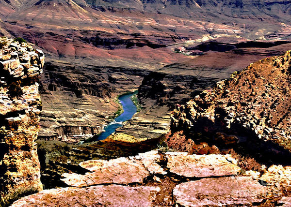 Painting - Colorado Rapids Grand Canyon by Bob and Nadine Johnston