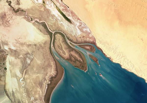River Delta Photograph - Colorado River Delta by Planetobserver/science Photo Library