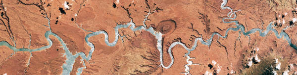 Wall Art - Photograph - Colorado River, Lake Powell, Satellite by Science Source