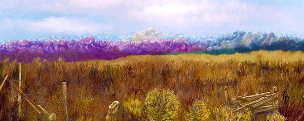 Fence Post Digital Art - Colorado Rockies From The Eastern Plains by Ric Darrell