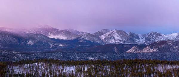 Photograph - Colorado Rocky Mountain Continental Divide Sunrise Panorama Pt1 by James BO Insogna
