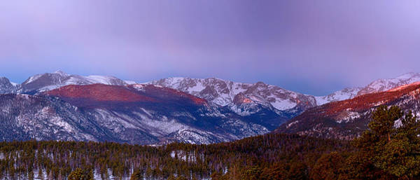 Photograph - Colorado Rocky Mountain Continental Divide Sunrise Panorama Pt2 by James BO Insogna