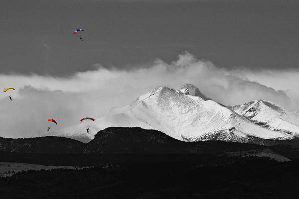 Skydiver Photograph - Colorado Rocky Mountain High by James BO Insogna