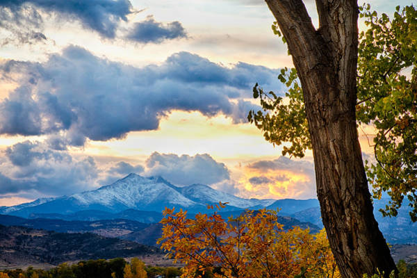 Photograph - Colorado Rocky Mountain Twin Peaks Autumn View by James BO Insogna