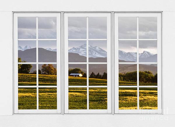 Wall Art - Photograph - Co Rocky Mountain View Through A White 24 Pane Window  by James BO Insogna