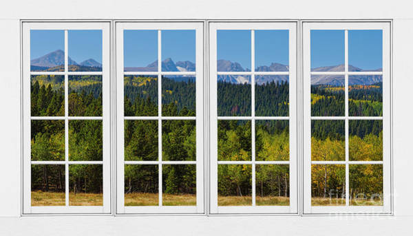 Unframed Wall Art - Photograph - Colorado Rocky Mountains White Window Frame View by James BO Insogna