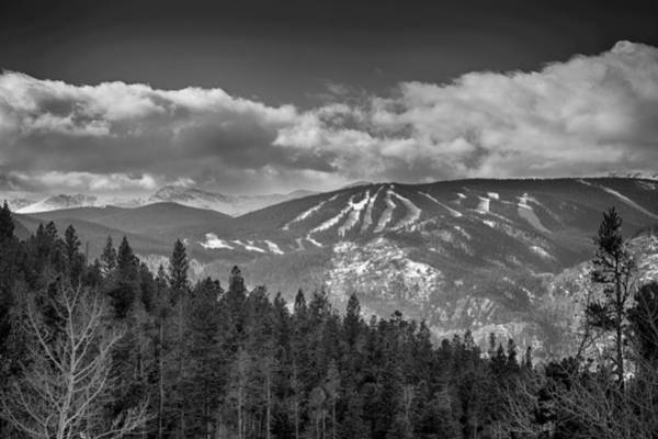 Photograph - Colorado Ski Slopes In Black And White by James BO Insogna