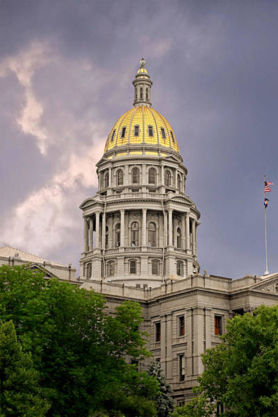 Wall Art - Photograph - Colorado State Capitol Building Denver Co by Christine Till