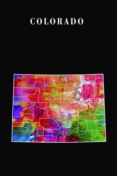 Arapahoe County Wall Art - Digital Art - Colorado State by Daniel Hagerman