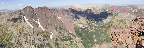 Diving Bell Photograph - Colorado Summit Panorama - Pyramid Peak by Aaron Spong