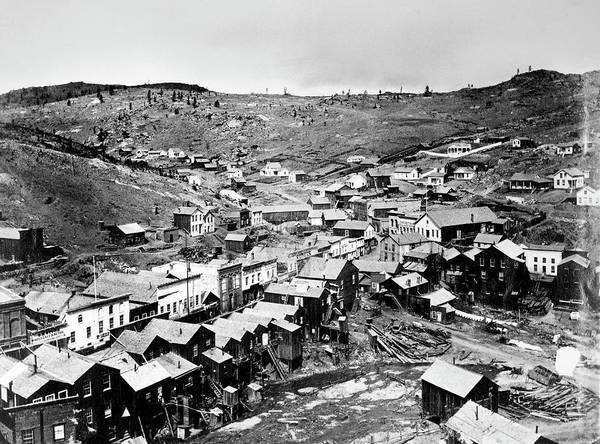 Photograph - Colorado Town, 1864. For Licensing Requests Visit Granger.com by Granger
